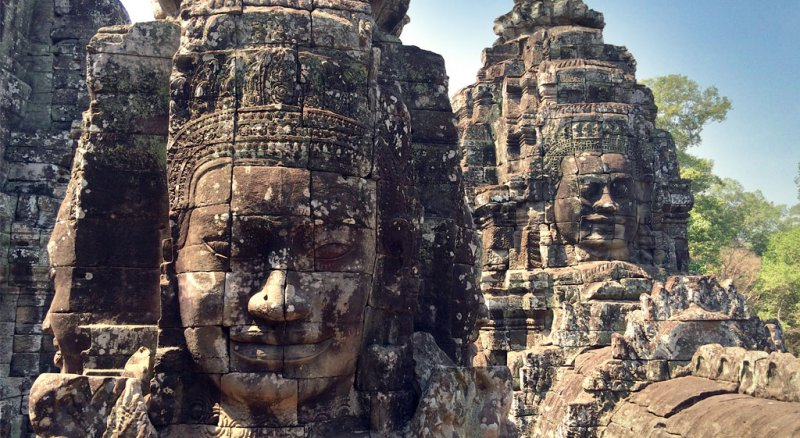 buddha-facesw800h438 Angkor Wat 2 Day Private Tour